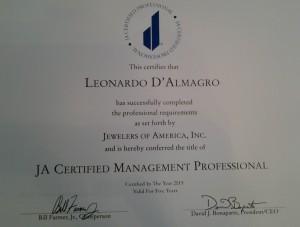 Jewelers-of-America-as-Certified-Management-Professional-ATX-Fashion-Jewelry-luxury-celebrity-Leonardo-D'Almagri
