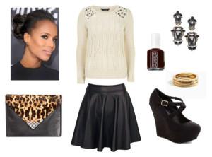 jewel-sweater-leather-skirt