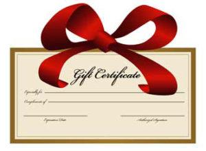 gift_certificate Leonardo D'Almagro