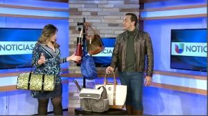 Leonardo D'Almagro Univision Moda Olian Noticias Carteras bolsas